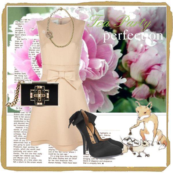 """""""Tea party outfit"""" by jenniferskim on Polyvore"""