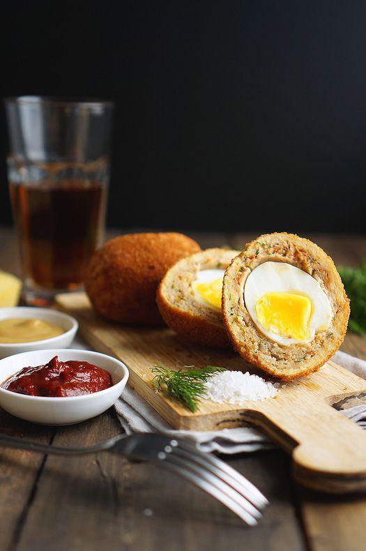 Шотландское яйцо, пошаговый фото рецепт, кулинарный блог anfychef.ru