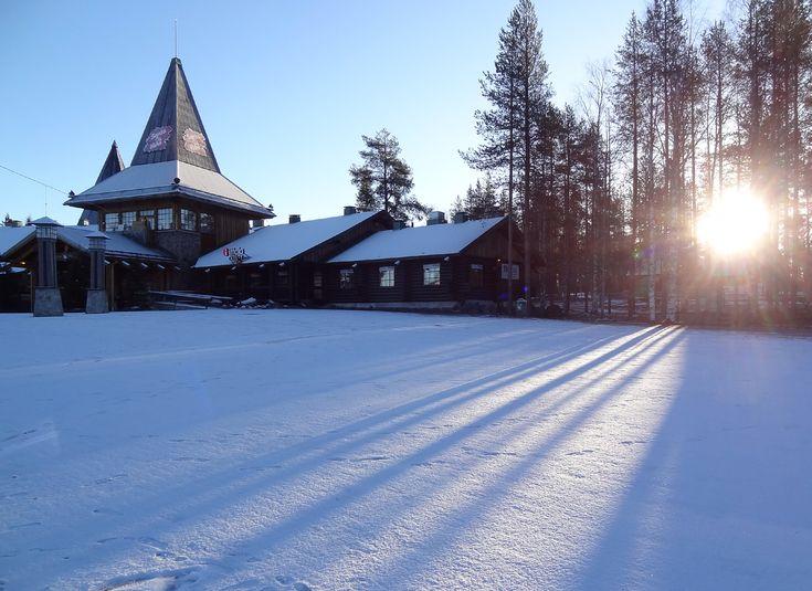 First snow in Santa Claus Village in Rovaniemi in Lapland