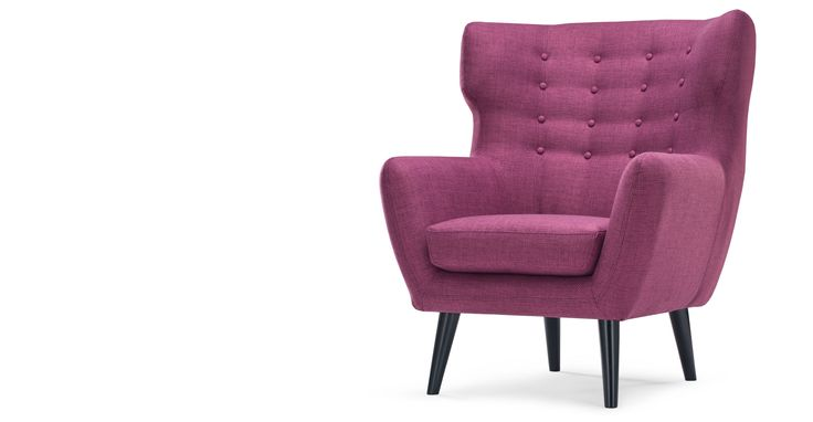 Kubrick Wing Back Chair, Plum Purple