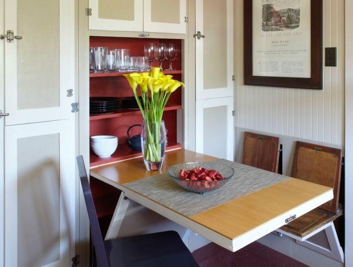 les 25 meilleures id es de la cat gorie table pliante sur pinterest table conomiseur d 39 espace. Black Bedroom Furniture Sets. Home Design Ideas