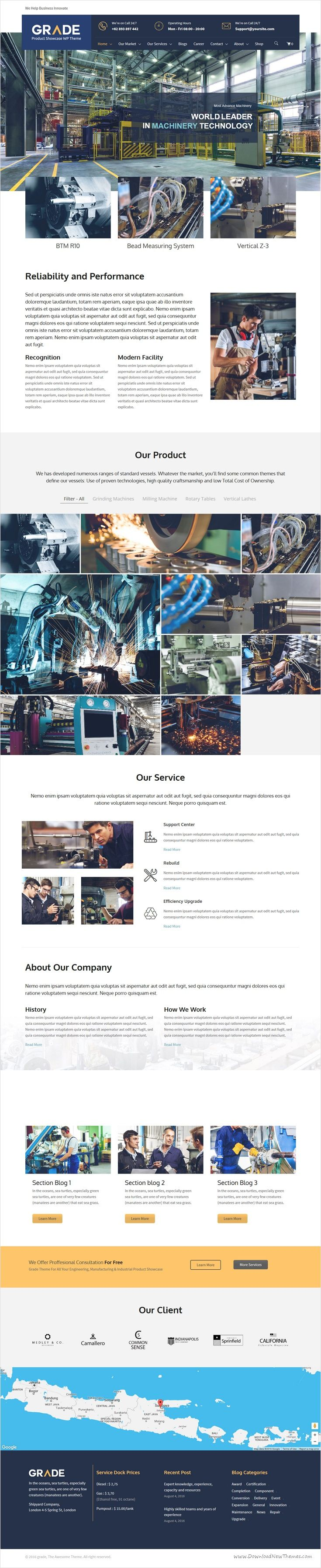 Grade is a perfect responsive 3 in 1 #WordPress Theme for  #Manufacturing & #Industrial Product Showcase or Engineering website download now➩ https://themeforest.net/item/grade-engineering-manufacturing-industrial-product-showcase-wp-theme/17334925?ref=Datasata