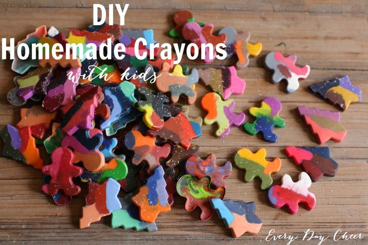 DIY Homemade Crayons with Kiddos
