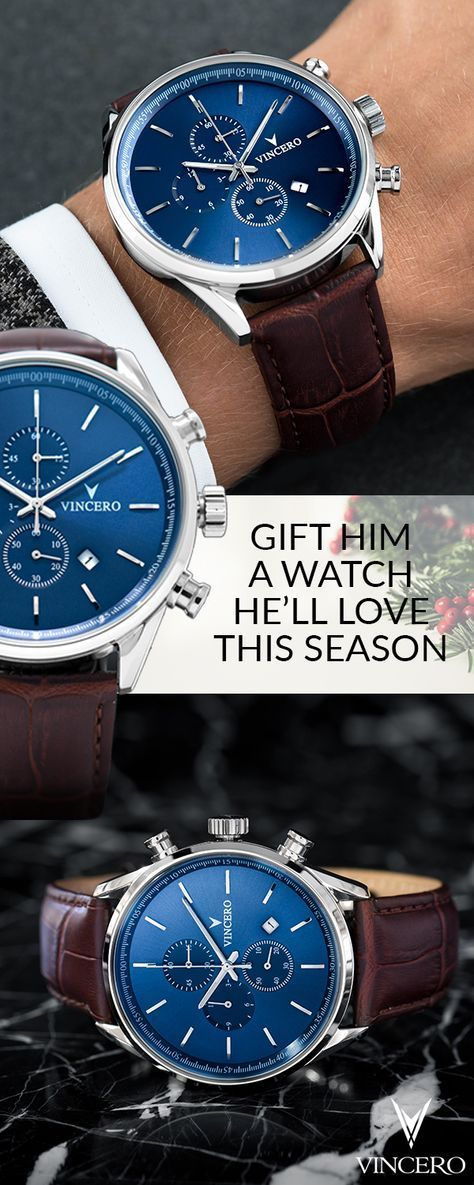 Bold, modern watches for men and women. Vincero timepieces come equipped with le...