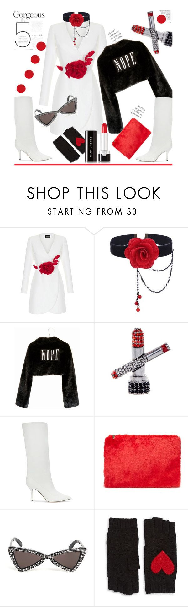 """""""#PolyPresents: Statement Jewelry"""" by dianefantasy ❤ liked on Polyvore featuring Rasario, Wet Seal, Marc Jacobs, Paul Andrew, Forever 21, Yves Saint Laurent, Portolano, contestentry, polyvoreeditorial and polyPresents"""