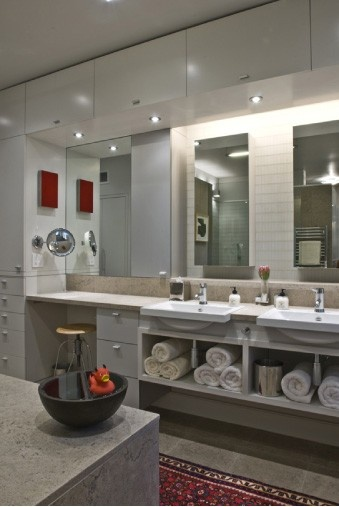 Bathroom Dressing Table Ideas. Shallow Vanity Wstorage