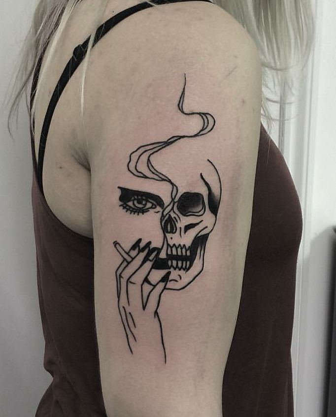 Tattoo by Johnny Gloom, Paris