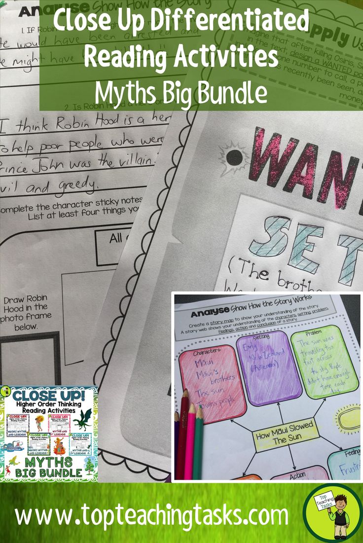 Ramp up your reading comprehension program with this Close Up Myths BIG BUNDLE. It features differentiated Reading Comprehension passages with Higher Order Thinking Tasks. It features 17 Myths and Legends from New Zealand and around the world. It also contains a wide range of higher order thinking activities! These print and go worksheets link directly to the New Zealand Curriculum, Level Three for Year Five, Year Six, Year Seven and Year Eight New Zealand.