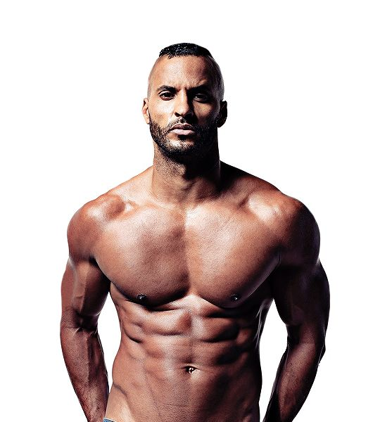 Ricky Whittle Men's Fitness photographed by Glen Burrows