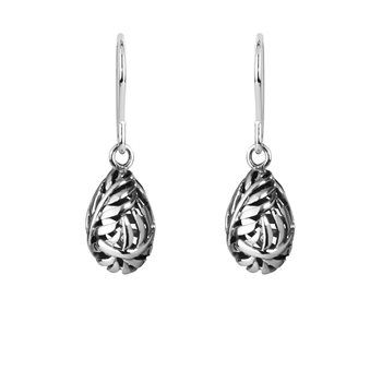 Silver Fern Drops - This intricately wrapped fern represents inner strength and protection... -NZ silver pendant - evolve-jewellery.co.nz