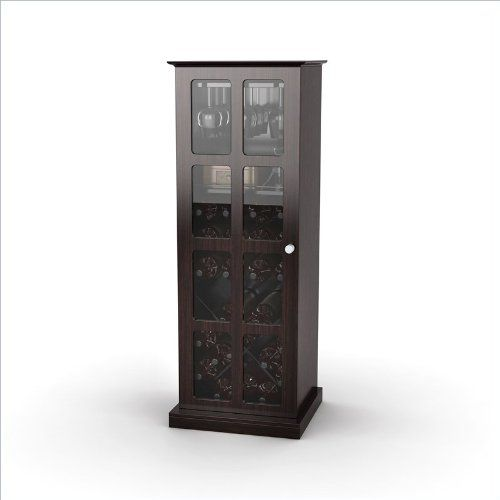espresso wine cabinet with glass windopane door atlantic
