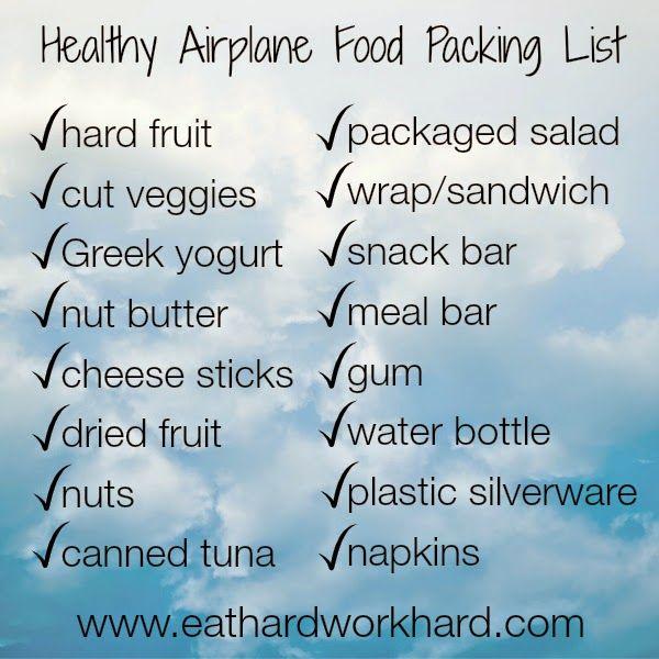 Eat Hard Work Hard: Healthy Airplane Food Packing List