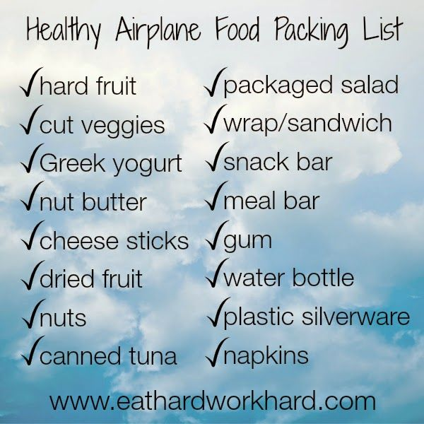 Eat Hard Work Hard: Healthy Airplane Food Packing List