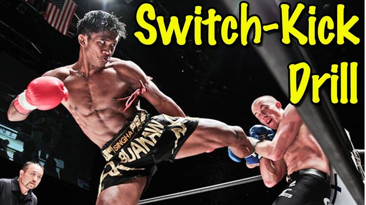 Muay Thai Switch Kick Drill Against Punchers