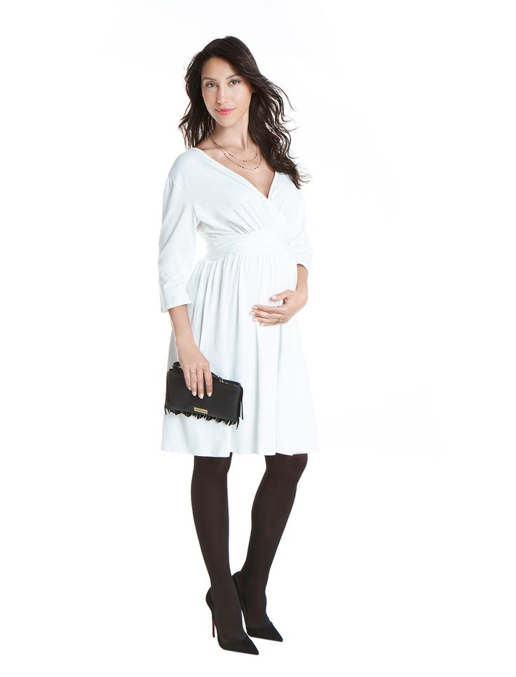 Jasmine Jersey wrap dress - 3 colors - day&night - during&after pregnancy - chic mum -check now! www.nanarisematernity.com
