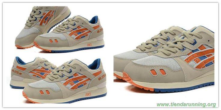 Asics Gel Lyte III Taupe/Orange/azul comprar zapatillas baratas