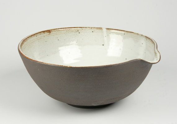 Handmade Stoneware Farmhouse Mixing Bowl. by PeterSheldonCeramics