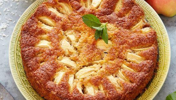 Glutenfri æblekage med kokos