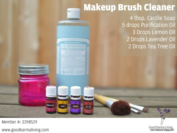 DIY Makeup Brush Cleaner with essential oils                                                                                                                                                      More