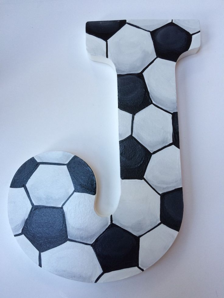 Sports Hand paintd Personalized Nursery / Children's / Kid's/ Teen's Room Decor Hanging Letters Soccer Theme by KarinsCustomCrafts on Etsy https://www.etsy.com/listing/120696618/sports-hand-paintd-personalized-nursery