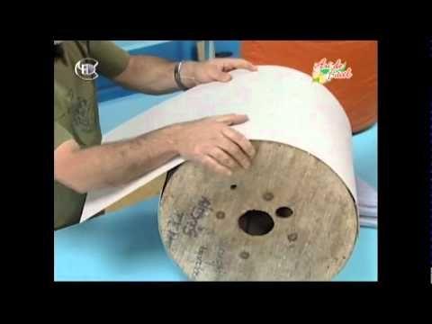 Manualidades Van Gogh - Puf (taburete) con carrete de cable parte 1.avi