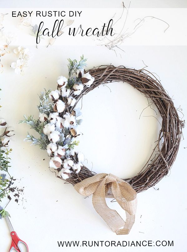 This easy DIY Fall wreath from www.runtoradiance.com is so cute and can be put together in under an hour. Love it!