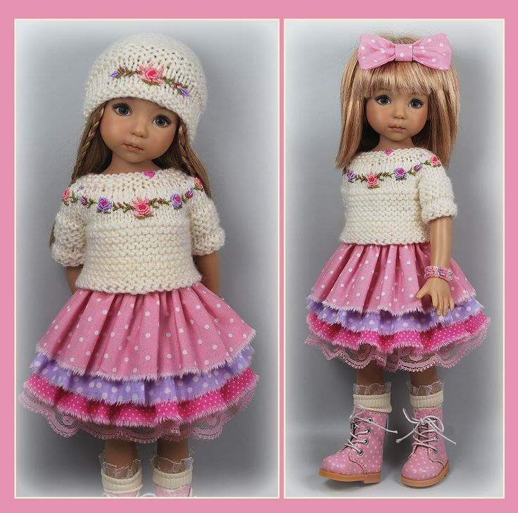 White, Pink and Lilac Outfit from maggie_kate_create on ebay ends 8/27/14. SOLD for $85.00, one bid.