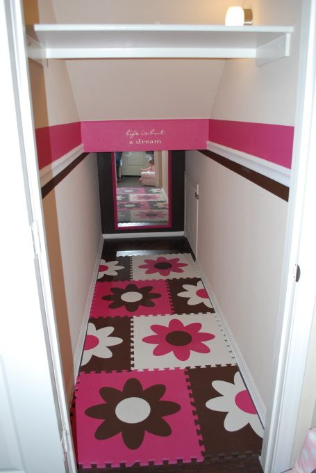 Funky & Flirty Playroom, We converted the closet under the stairs to our daughter's playroom. She loves it!!, Girls' Rooms Design