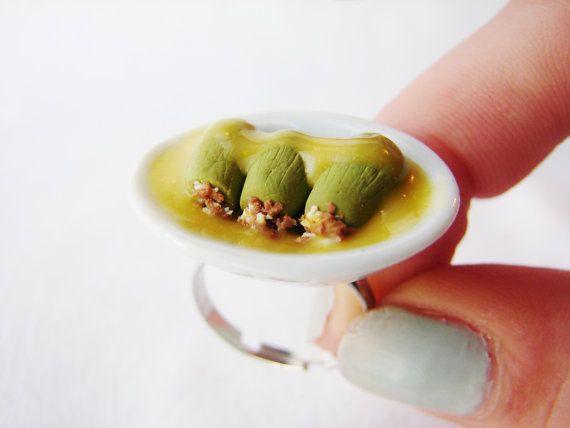 Greek Food Series - Stuffed Courgettes With Sauce - Kolokithakia Gemista - Miniature