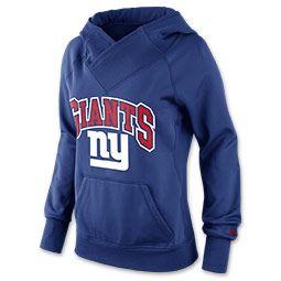 Women's Nike New York Giants NFL Wildcard All Time Rib Hoodie