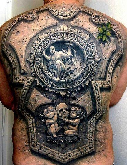 Mind-Blowing Stonework Style Tattoos http://www.orianatattoo.com/