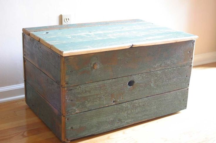 barn wood crafts | Hand Made Reclaimed Barn Wood Storage Chest by Tim Sway Perspectives ...