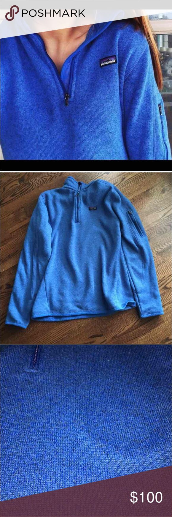 RARE royal blue patagonia better sweater This is a RARE color and great sweater. This jacket is in good condition with minor pilling. Although there is no size tag, i promise this is a medium patagonia :). Just selling because it's a little too small for me! Patagonia Jackets & Coats