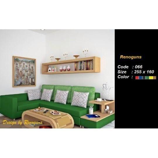 sofa L minimalis + ambalan samping + meja oval. Rp 4.500.000,-