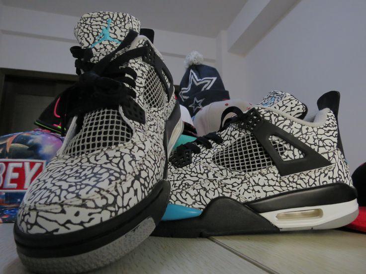 The Latest Nike Jordan 4 Cheap sale DB Superman Black Royal Gree