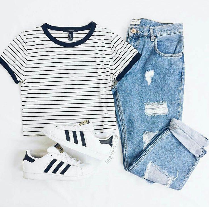 Outfit para la escuela, cómodo y sencillo
