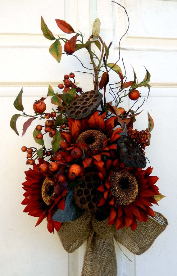fall wreath thanksgiving wreath sale autumn by forevermore1 7570 - Fall Decorations For Sale
