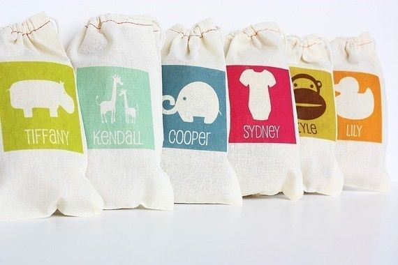 such a cute idea - little personalized bags