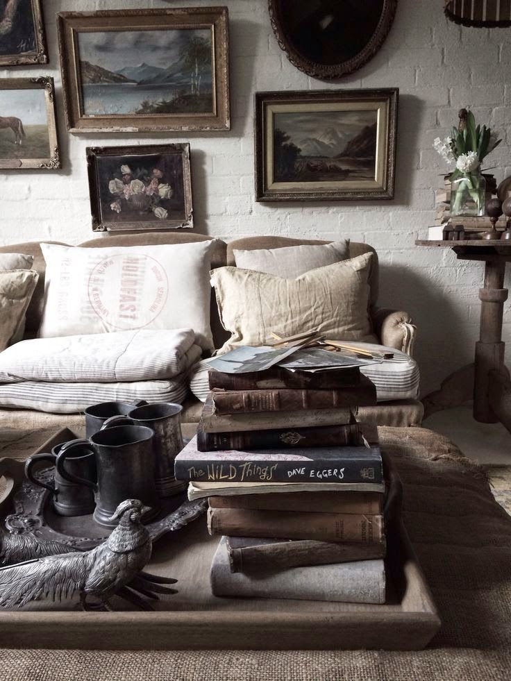 Vintage Home Interior Design: Boho Bohemian Chic Rustic Decor Interior