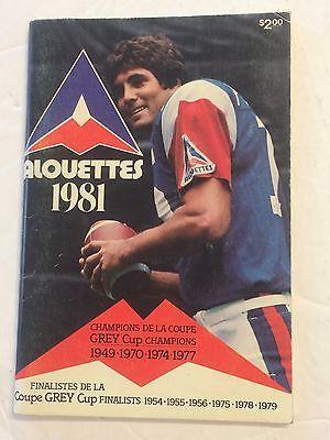 T-1981-Canadian-Football-League-CFL-MEDIA-GUIDE-Montreal-Alouettes-V-FERRAGAMO