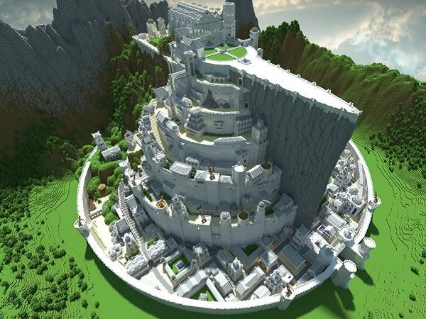 Minas Tirith & 39 other places - Minecraft style