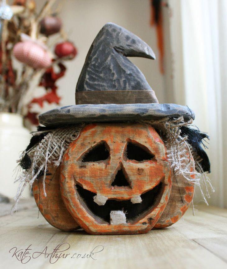wooden pallet pumpkin halloween decorations kate arthur