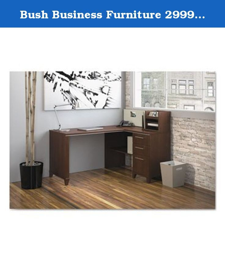 Bush Business Furniture 2999CSA2-03. Enterprise Collection 60W x 47D Corner Desk offers transitional styling that creates a professional impression anywhere. Constructed with 100% thermally fused laminate for durability and superior resistance to scratches and stains. This desk has a charging station in the Micro Hutch and is mountable in multiple workstation locations, plus offers one fabric covered Tackboard. All components are finished with metal drawer pulls for contemporary styling…