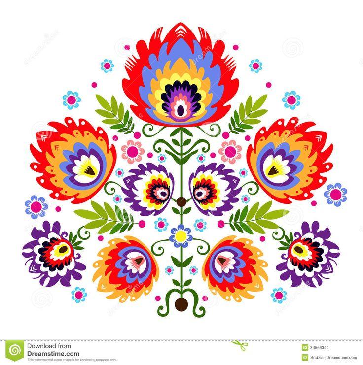 Fleurs folkloriques de broderie