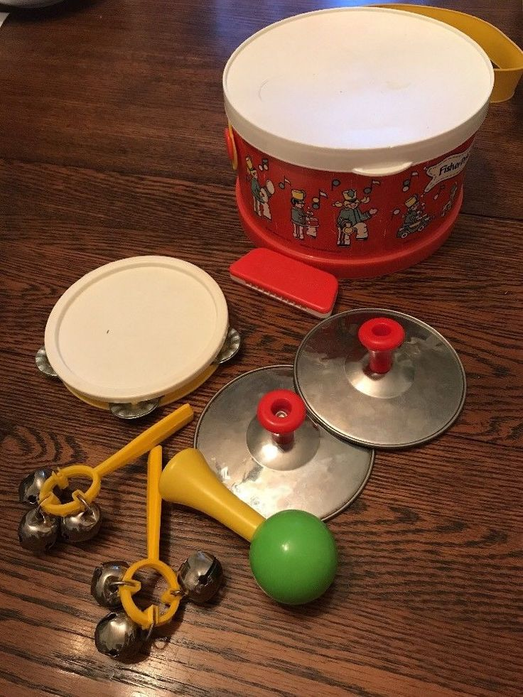 Vintage 1979 Fisher Price Marching Band Drum Set 921 Child's Musical instruments    eBay