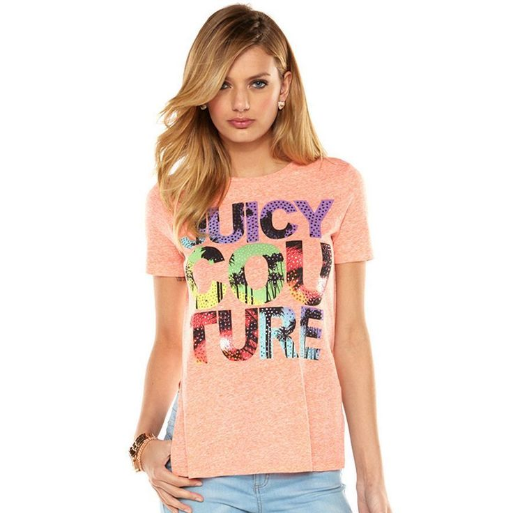 NWT Authentic Juicy Couture Women's High-Low Hem Graphic T-Shirt #JuicyCouture #GraphicTee
