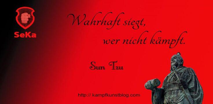 Wahrhaft siegt, wer nicht kämpft - Ein Zitat von Sun Tzu