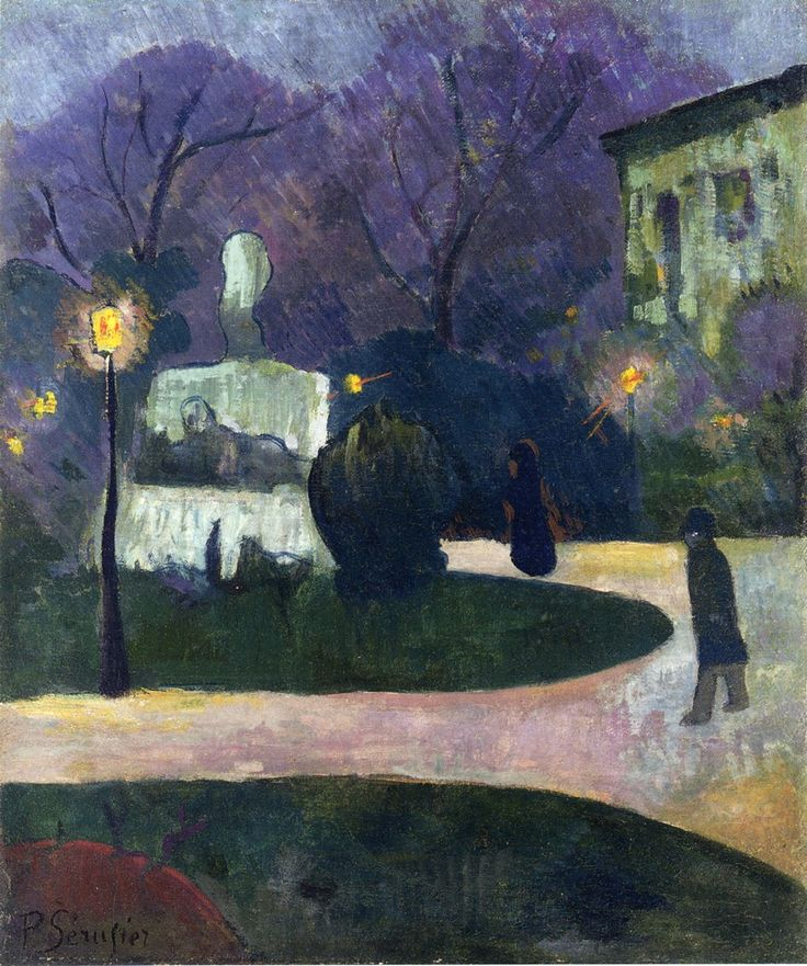 Square with Street Lamp by @paulserusier #postimpressionism