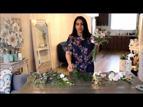 Diy Cascading Bouquet Part I Youtube Cascading Wedding Bouquets Cascade Bouquet Vintage Bridal Bouquet