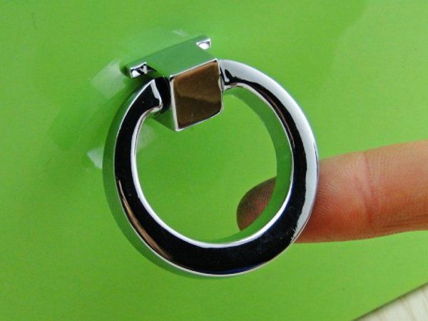 silver dresser knobs pull ring drawer knob pulls cabinet door knobs rings chrome